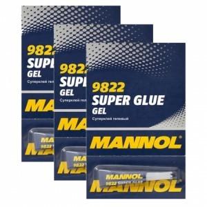 Mannol 9822 Gel Super Glue Гелевый секундный клей