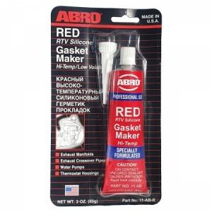 Abro Герметик прокладок силиконовый, красный, 11-AB Red